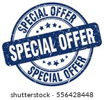 special offer. stamp. blue... | Shutterstock .eps vector #556428448