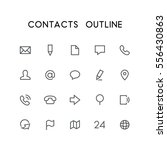 contacts outline icon set  ... | Shutterstock .eps vector #556430863