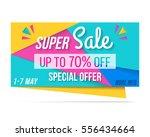 super sale banner  70  off ... | Shutterstock .eps vector #556434664