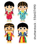 old traditional clothes in... | Shutterstock .eps vector #556437490