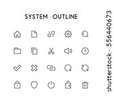 system outline icon set   home  ... | Shutterstock .eps vector #556440673