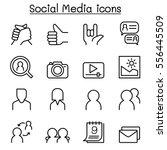 social network   social media... | Shutterstock .eps vector #556445509