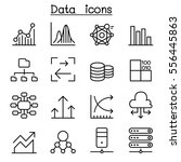 database   data   graph icon... | Shutterstock .eps vector #556445863