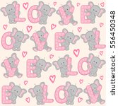 seamless pattern with cute... | Shutterstock .eps vector #556450348