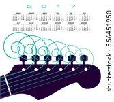 a 2017 calendar with a guitar...   Shutterstock .eps vector #556451950