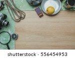 camping  tourist equipment on...   Shutterstock . vector #556454953