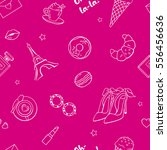 seamless pattern with cute... | Shutterstock .eps vector #556456636