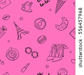 seamless pattern with cute... | Shutterstock .eps vector #556457968