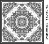 vector ornament paisley bandana ... | Shutterstock .eps vector #556460758