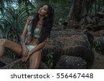 sensual young brunette beauty... | Shutterstock . vector #556467448