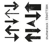 set of grunge arrows on white... | Shutterstock .eps vector #556477384