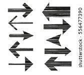 set of grunge arrows on white... | Shutterstock .eps vector #556477390