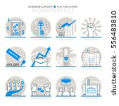 infographic icons elements... | Shutterstock .eps vector #556483810