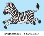 a cartoon drawing of a zebra... | Shutterstock .eps vector #556488214