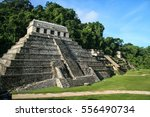 mayan ruins of palenque in... | Shutterstock . vector #556490734