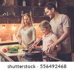 cute little girl and her... | Shutterstock . vector #556492468