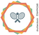 tennis racket ball vector icon. ... | Shutterstock .eps vector #556494268