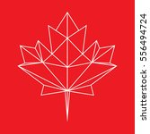 a low polygon style maple leaf... | Shutterstock .eps vector #556494724