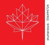 A Low Polygon Style Maple Leaf...