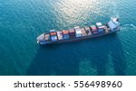 container ship in export and... | Shutterstock . vector #556498960