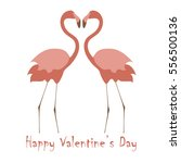 valentines day banner with cute ... | Shutterstock .eps vector #556500136