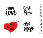 hand written set of love... | Shutterstock .eps vector #556501810