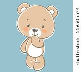 vector cute cartoon teddy bear... | Shutterstock .eps vector #556505524