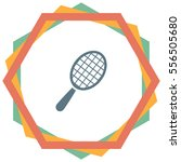 racket vector icon. tennis sign.... | Shutterstock .eps vector #556505680