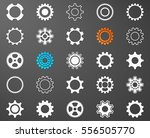 collection of white gear wheel... | Shutterstock .eps vector #556505770