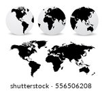 abstract globes with abstract... | Shutterstock .eps vector #556506208
