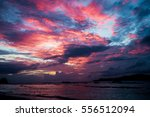 Sunset Seascape With Dramatic...