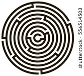 circle maze   labyrinth on... | Shutterstock .eps vector #556514503