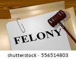 "3d illustration of ""felony""..."