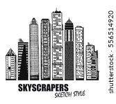set of business buildings.... | Shutterstock .eps vector #556514920