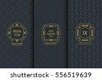 vector set of vintage design... | Shutterstock .eps vector #556519639