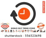 orange and gray repeat clock... | Shutterstock .eps vector #556523698