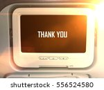 airplane monitor behind...   Shutterstock . vector #556524580
