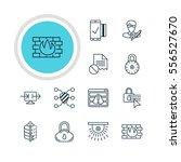vector illustration of 12 web... | Shutterstock .eps vector #556527670