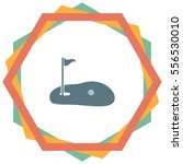 golf vector icon. pot with a... | Shutterstock .eps vector #556530010