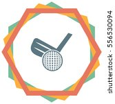 golf vector icon. ball and club ... | Shutterstock .eps vector #556530094