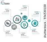 modern infographic design... | Shutterstock .eps vector #556530100
