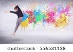modern street dancer jumping... | Shutterstock . vector #556531138