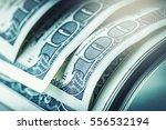 close up american dollar...   Shutterstock . vector #556532194