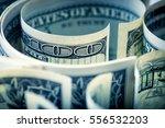 close up american dollar... | Shutterstock . vector #556532203