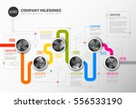vector infographic company... | Shutterstock .eps vector #556533190