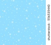 snowflakes snow on blue sky... | Shutterstock . vector #556535440