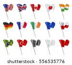 Various Flags  3d Vector Icon...