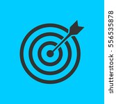 target bullseye arrow icon flat.... | Shutterstock .eps vector #556535878