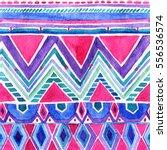 colorful watercolor geometric... | Shutterstock . vector #556536574