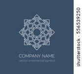 geometric logo template. vector ... | Shutterstock .eps vector #556539250